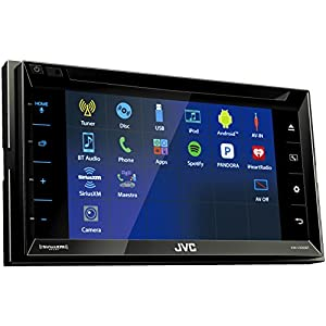 "JVC KW-V330BT 6.8"" Double DIN Bluetooth In-Dash DVD/CD/AM/FM/Digital Media Car Stereo with SiriusXM Tuner"