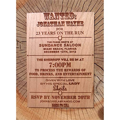 Amazon Com 4 X 5 Wood Cards Invitations Color Printed
