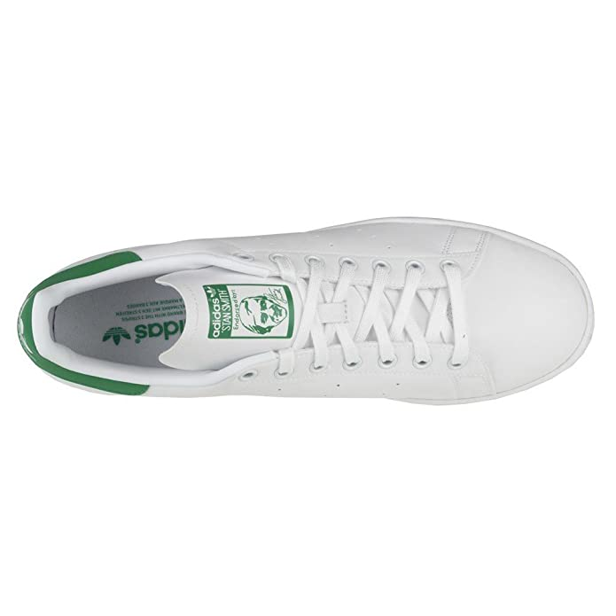 adidas Originals Stan Smith White & Green Tumbled Leather Trainers-UK 13:  Amazon.co.uk: Shoes & Bags