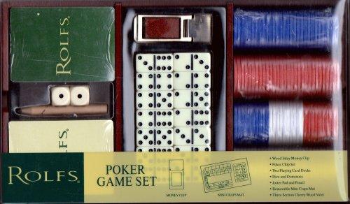 Rolfs Poker Game Set - Poker Chip Money Clip