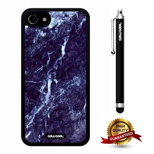 iphone 7 Case, Marble Pattern Case, Cowcool Ultra Thin Soft Silicone Case for Apple iphone 7 - Royal Navy Marble Texture