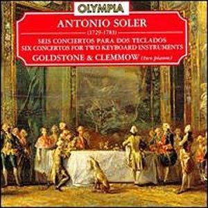 Antonio Soler, Anthony Goldstone, Caroline Clemmow - Soler: Six Concertos for Two Keyboard Instruments - Amazon.com Music