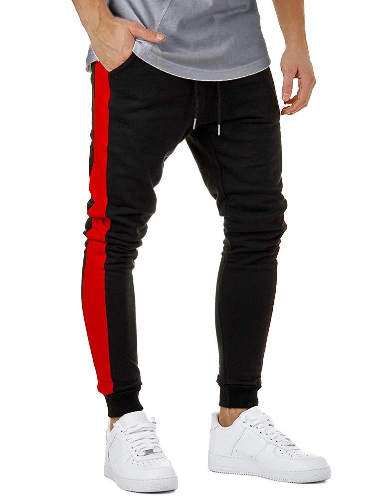 Minetom Hombre Pantalones Largos Moda Casuales Slim Pantalón con ... ac0cacfca3f