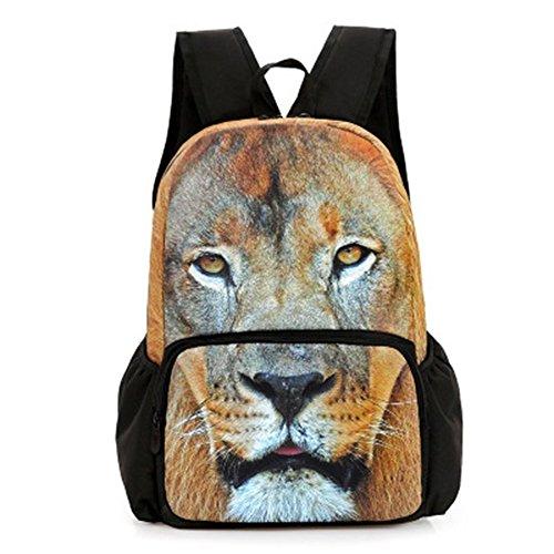 St.Roma - Bolso mochila  de Lona para mujer Talla única león