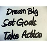 Positive Affirmations Motivational Words Metal Wall Art
