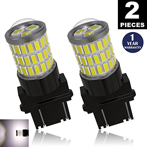 LUYED 2 x Super Bright 9-30v 3156 3057 3157 4157 LED Bulbs Used For Back Up Reverse Lights,Brake Lights,Tail Lights,Xenon White