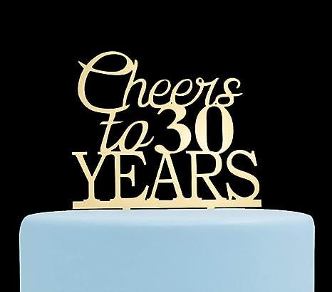 Jeer2 - Decoración para tarta de 30 años para cumpleaños y ...