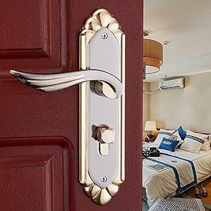 vanme Continental cierre mecánico madera maciza interior cerradura de la puerta cerradura de la puerta con