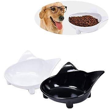 KAIMENG Pet Cat Bowls Comida Cuencos de Agua para Perros Platos de Gato Tazones de alimentación
