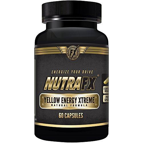 Quemador de grasa Nutrafx amarillo energía Xtreme - termogénicos para la pérdida de peso Pre entrenamiento suplemento 60 cápsulas