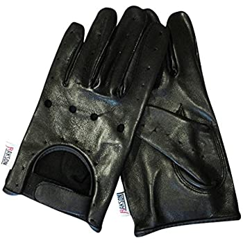 Men's Black Leather Motorcycle Biker Driving Dressing Casual Gloves Unlined Rk-1011 (XL)