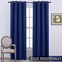 NICETOWN Living Room Blackout Window Treatment - Energy Saving Thermal Insulated Solid Grommet Blackout Curtain /Drape / Rideau (Single Panel,52 by 84-Inch,Royal Blue)
