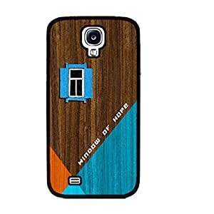 Unique Geometric Design Hard Protective Skin Case Cover for Samsung Galaxy S4 I9500 ,Wood Pattern Print Cell Phone Case (guys black ju5236)