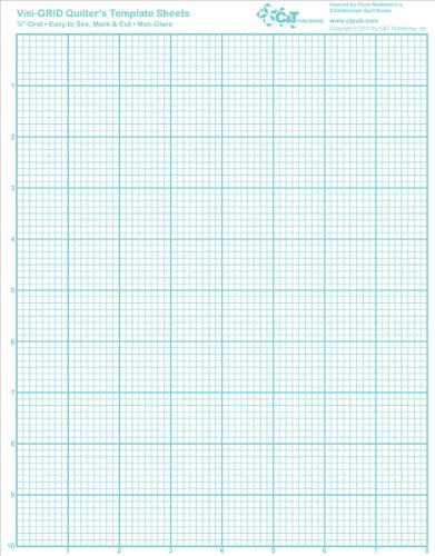 Visi-GRID Quilter's Template Sheets - 11'' x 8.5'' 1 pcs sku# 981549MA by C&T PUBLISHING