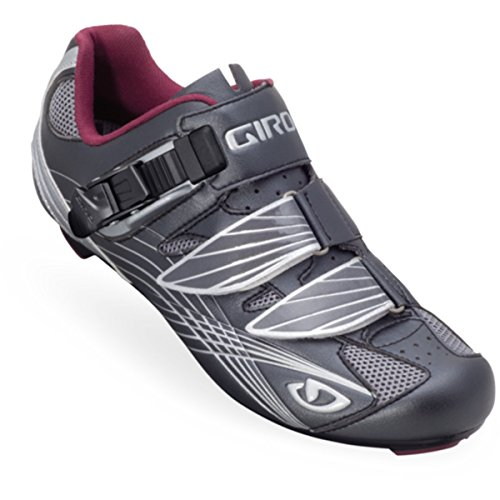 Giro 2013 Women's Solara Road Bike Shoes (Gunmetal/Berry - 38.5) by Giro
