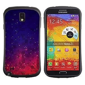 Suave TPU GEL Carcasa Funda Silicona Blando Estuche Caso de protección (para) Samsung Note 3 / CECELL Phone case / / Stars Space Purple Blue Night Sky Vibrant /
