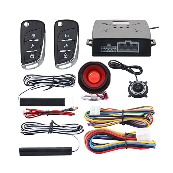 EASYGUARD EC003N V Car Security Alarm System PKE Passive Keyless Entry Remote Engine Start Stop Keyless Go System DC12V
