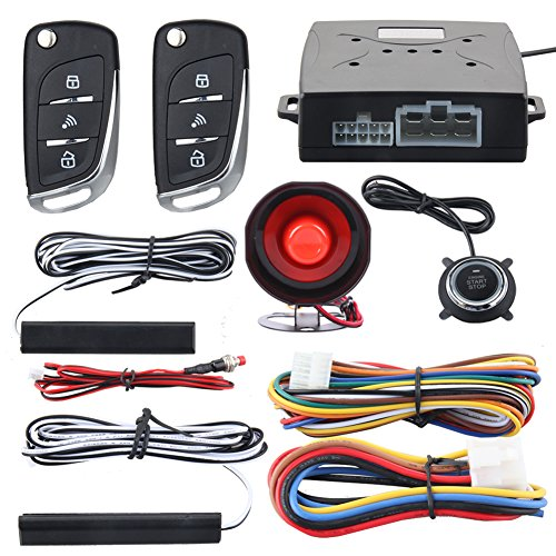 EASYGUARD EC003N-V Car security alarm system with PKE passive keyless entry remote engine start stop keyless go system DC12V