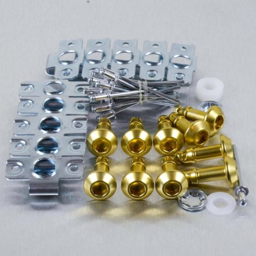 Aluminium Quick Release/Clip 6 Allen Key 24mm Pack x 10 Gold
