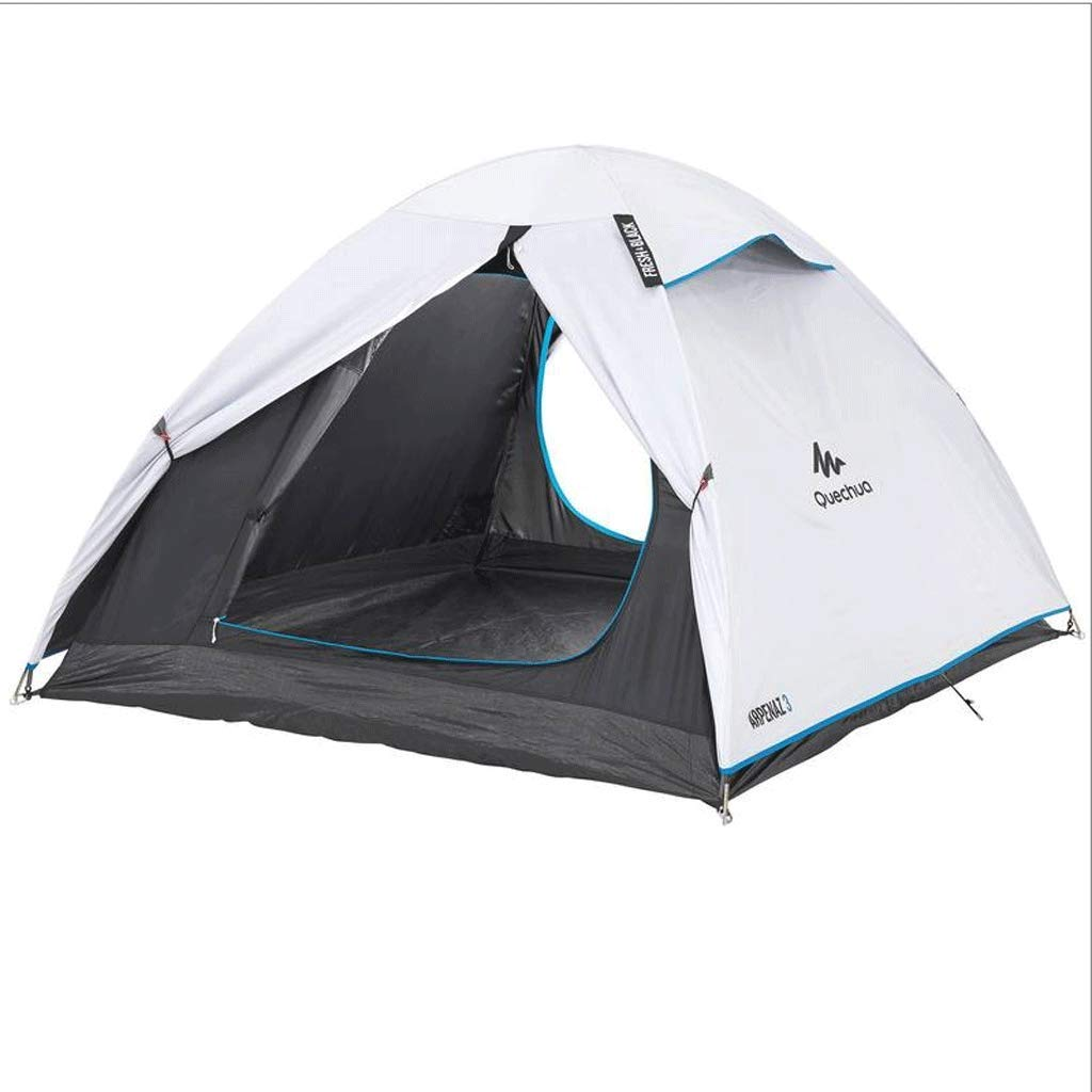 Zelt Im Freien Anti-UV Camping Zelt 2-3 Personen Wasserdicht Sonnenschutz Doppel Konto Feder DREI Saison Konto Manuell Eingerichtet