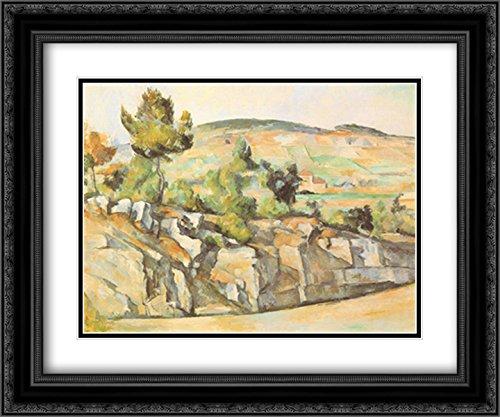 (Hillside in Provence, c. 1886-90 2X Matted 15x18 Black Ornate Framed Art Print by Paul)