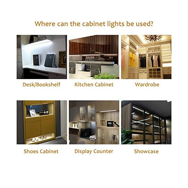 6W Daylight White AIBOO Under Cabinet LED Lights Kit 3 Packs Slim Aluminum Puck Lamps with Switch 12Vdc 6W All Accessories Included