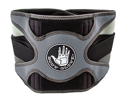 Body Glove Relief Lumbar Support   Hot & Cold Therapy for Back Pain   Adjustable Compression Back Support Belt (Grey, (Cold Therapy Mitt)