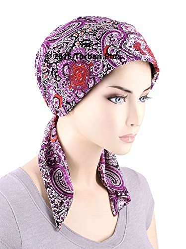 Chemo Fashion Scarf Easy Tie Turban Hat Headwear for Cancer Harvest Brown