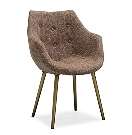 Good TOV Furniture The Finn Collection Mid Century Modern Tweed Upholstered  Chair With Steel Base,