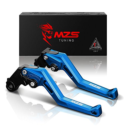 MZS Adjustment Brake Clutch Levers for Suzuki GSXR600 1997-2003,GSXR750 1996-2003,GSR750/GSXS750 2011-2016,GSXR1000 01-04,GSR600 06-11,SV650 16-17,SFV650 09-15,DL650/V-Strom 11-12,TL1000S 97-01 Blue