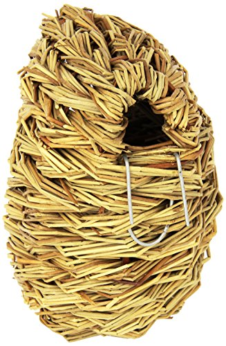 Prevue-Pet-Products-BPV1152-Natural-Fiber-Parakeet-Covered-Twig-Nest-Large
