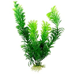 Saim Green Artificial Plastic Plants Set Aquarium Decor Fish Tank Ornament 12\