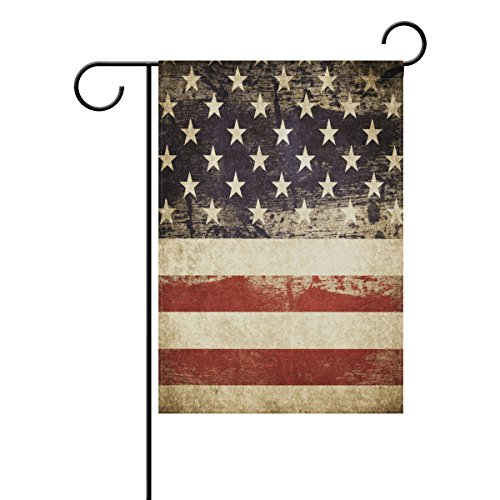 ALAZA Garden Flag Yard Decoration, Retro Vintage American Pa
