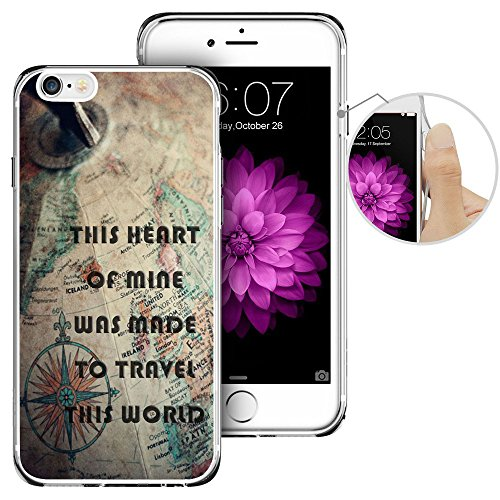 Price comparison product image iPhone 6 Case, iPhone 6s Case,  LAACO Beautiful Clear TPU Case Rubber Silicone Skin Cover for iPhone 6 / 6S - Nostalgic Map