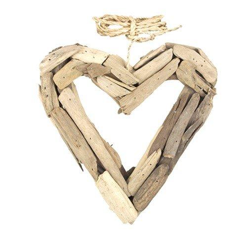 DRIFTWOOD OPEN HEART 8.5x1.75x8.5''H