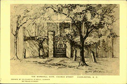 The Marshall Gate, Church Street Charleston, South Carolina Original Vintage Postcard