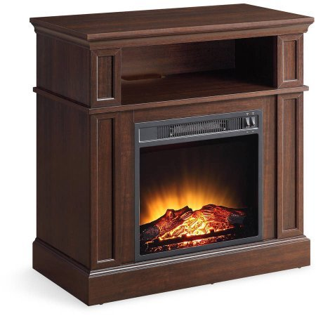 "Mainstays 31"" Media Fireplace for TVs up to 42"""