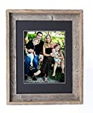 BarnwoodUSA 8X10 Inch Signature Picture Frame for 5X7 Inch Photos - 100% Reclaimed Wood, Black Mat