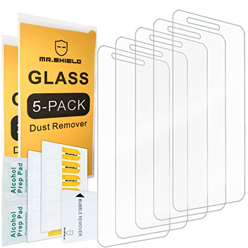 [5-PACK]-Mr Shield For LG Fortune [Tempered Glass] Screen Protector [0.3mm Ultra Thin 9H Hardness 2.5D Round Edge] with Lifetime Replacement Warranty