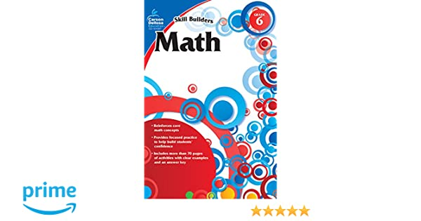 Amazon math grade 6 skill builders 0044222208875 carson amazon math grade 6 skill builders 0044222208875 carson dellosa publishing books fandeluxe Image collections