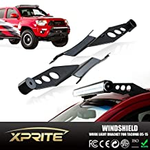 "Xprite Steel Metal Upper Windshield Mounting Brackets For 50"" Straight and Curved LED Work Light Bar (2005-2015 Toyota Tacoma)"