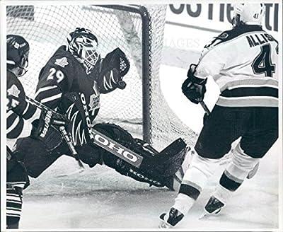 Undated Press Photo NHL Boston Bruins Jason Allison/Toronto Felix Potvin