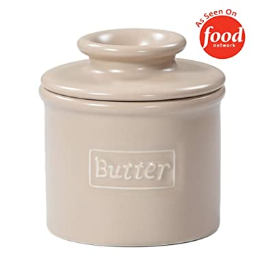 Butter Bell - The Original Butter Bell Crock by L. Tremain, French Ceramic Butter Dish, Café Matte Collection, Beige
