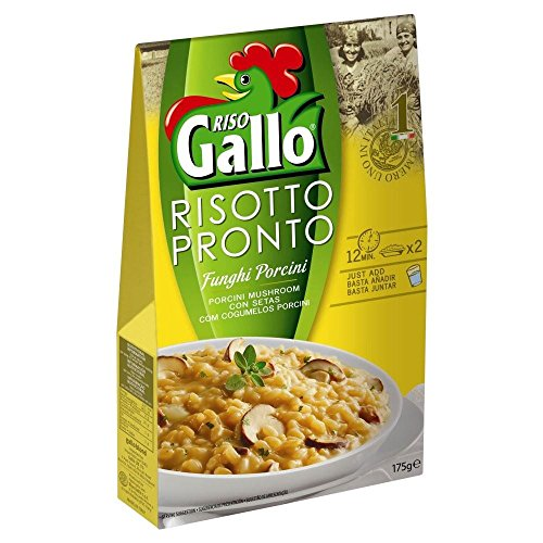 Riso Gallo Risotto Pronto Porcini Mushroom (175g) - Pack of 6 by Riso Gallo