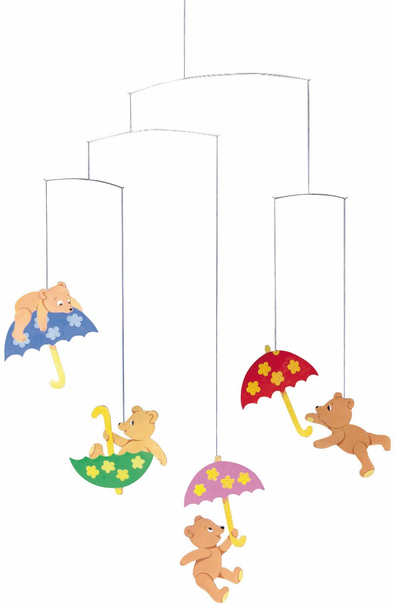 Flensted Mobiles Hugging Bears Hanging Nursery Mobile - 20 Inches Cardboard