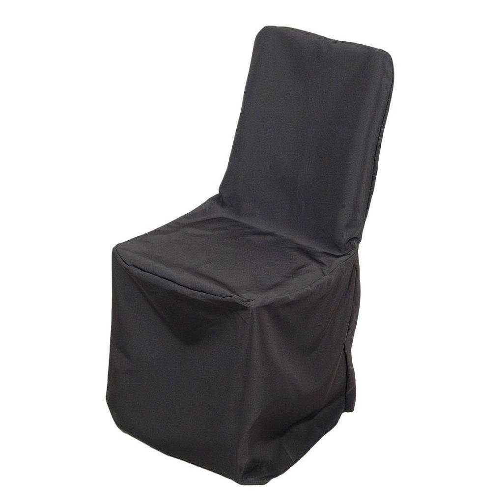 開催中 MDSパック150のウェディングパーティーの装飾ポリエステルラウンドトップ宴会椅子カバー椅子カバー ndash; ホワイトまたはブラック ブラック 150_pol round benq Black B01MY086EE 新商品!新型