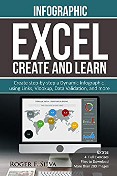 Excel Create and Learn - Infographic: Create Step-by-step a Dynamic Infographic Dashboard. More than 200 images and, 4 Exercises by [Silva, Roger F.]