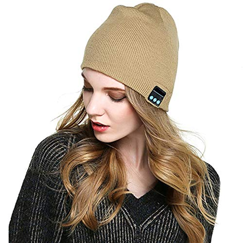 Dongtu Unisex Bluetooth Wireless Headset Music Beanie Knit Hat with Speakers and Mic Skullies & Beanies