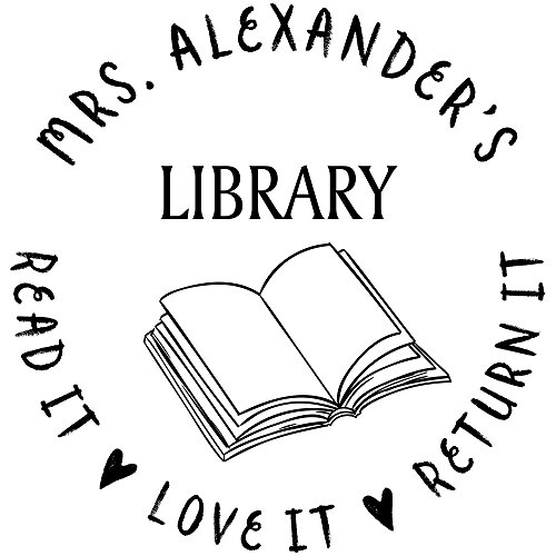 Custom Teachers Library Stamp (Hand Custom Stamp)