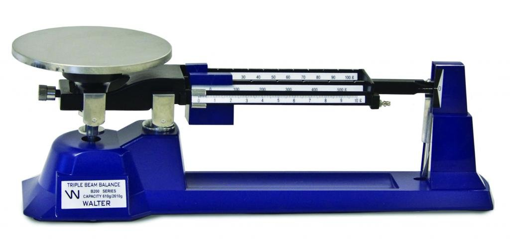 Walter Products B-300-W-O Economy Triple Beam Balance with Tare and Weight Set, 2610 g Capacity by Walter Products